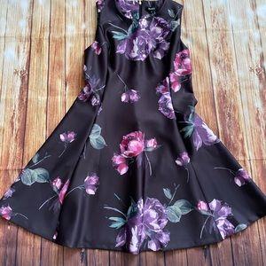 Dkny Dresses - DKNY Women's Black/Purple Fit & Flare Dress Sz 12